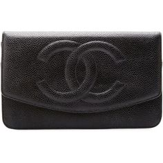 Vintage Chanel by THEBROWNPAPERBAG (865 CAD) ❤ liked on Polyvore featuring bags, handbags, clutches, bolsas, chanel, purses, black, pocket purse, chanel pochette and zipper handbag