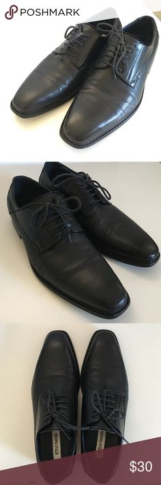 Men's Steve Madden dress shoes VERY CLEAN men's Steve Madden black dress  shoes size 8.