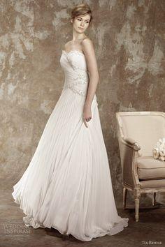tia bridal benjamin roberts 2013 romance strapless wedding dress 5367