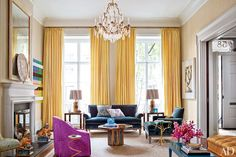 Before   After Living Room Makeovers Photos   Architectural Digest