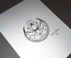 Lotus with sun and moon tattoo design and stencil – insta … – Tattoo Designs Lotus Tattoo Design, Moon Tattoo Designs, Lotus Design, Mandala Design, Kunst Tattoos, Neue Tattoos, Body Art Tattoos, Wing Tattoos, Maori Tattoos