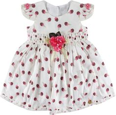 Vestido Sorvete Digo Bru Branca E Rosa