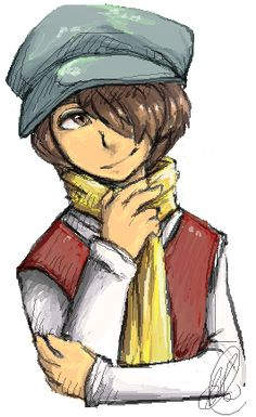 Crow from Professor Layton My absolute favorite character<3 <3 <3 He's so awsome!!