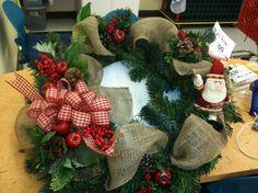 Burlap wreath- so popular!  Have sold several!