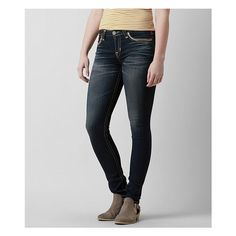 Big Star Vintage Maddie Skinny Stretch Jean ($136) ❤ liked on Polyvore featuring jeans, blue, metallic skinny jeans, big star jeans, stretchy skinny jeans, frayed skinny jeans and skinny fit jeans