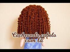 Tutorial: Dicas de como fazer cabelo de boneca de lã cacheado. - YouTube