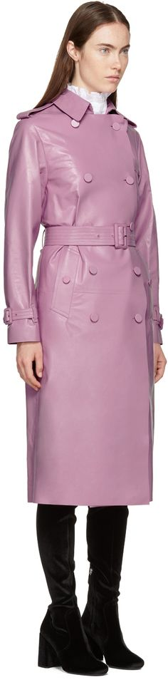 Valentino - Pink Leather Trench Coat