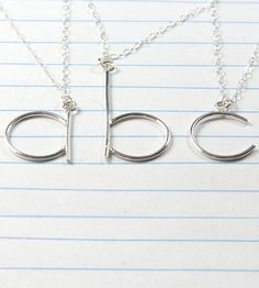 Silver Lowercase Initial Necklace by TorchFire Studio on Scoutmob