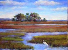 Florida Wetlands painting by Karen Margulis