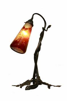 Lámpara de Emile Gallé. Modelo crisantemos, estilo japonisant