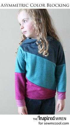 Sew an asymmetric urban hoodie with color blocking by The Inspired Wren on sewmccool.com!