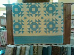 Blue and White Antique Quilt by Shoofly Quilts, via Flickr