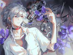 Neon Genesis Evangelion, Old Anime, Anime Guys, Evangelion Kaworu, Anime City, Illustration Sketches, Anime Style, Choker, Fan Art