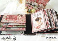Perfume Bottle Mini Album - Graphic 45 - Mon Amour - Belly Lau - 18
