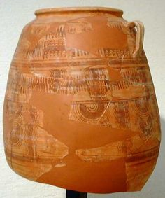 Vasija de almacenamiento (dolia) procedente de El Amarejo (Museo de Albacete)