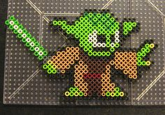 Yoda Star Wars perler beads  by Flood7585