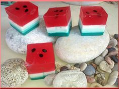 Watermelon glycerine soap by ElenisLittleShop on Etsy