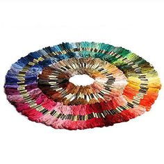 150 Skeins of 8m Multicolor Soft Cotton Cross Stitch Embroidery Threads Floss Sewing Threadspack of 150pcs Random Color 150 *** Be sure to check out this awesome product.