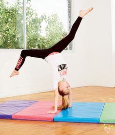 Stretchy active leggings perfect for TUMBLING like a girl!