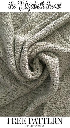 The Elizabeth Throw with a FREE Crochet pattern! - yarnhookneedles -
