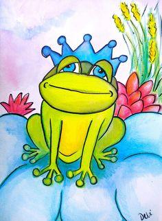 Frog Prince Painting  - Frog Prince Fine Art Print