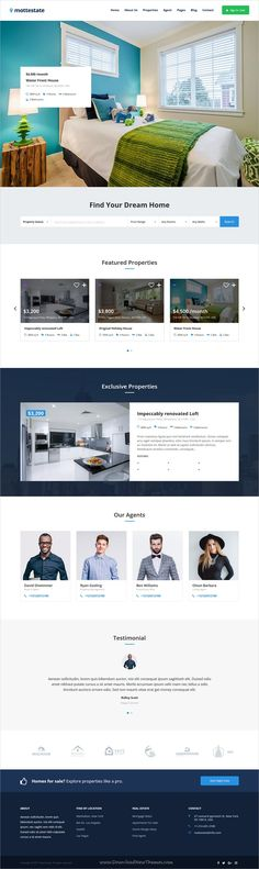 Mottestate is clean and modern design 4in1 responsive #WordPress theme for #realestate and #property listing website to live preview & download click on Visit