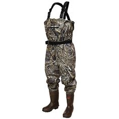 Frogg Toggs Hellbender Cleated Bootfoot Wader, Realtree Max, Size 10 -- Click on the image for additional details.