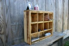 Desktop Organizer Reclaimed wood by GreenSouthLiving on Etsy, $80.00