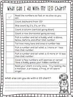 FREE 120 Chart ideas … great to send home or use in a math center! From Ship S… FREE 120 Chart ideas … great to [. Math Stations, Math Centers, Math Resources, Math Activities, Math Games, Educational Activities, 120 Chart, Number Chart, Number Grid