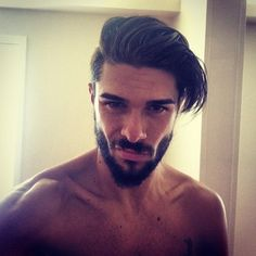 This sexy and confident early riser. | 27 Men's Undercuts That Will Awaken You Sexually