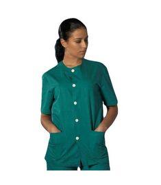 La clásica casaca de sanitario con botones y cuello redondo con manga corta y disponible en 3 colores blanco, azul y verde quirófano. Unisex, Button Down Shirt, Men Casual, Mens Tops, Shirts, Fashion, Shopping, Green, Blue