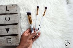DIY Marble Makeup Brushes Made in a few easy steps!