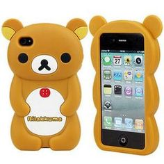 Extra cute brown Rilakkuma bear rubber TPU case that will fit an iPhone 4 or mobile phone. Jazz up your mobile with this extra cute Japanese style phone case! Craft Supplies Uk, Kawaii Crafts, Cute Stationary, Silicone Iphone Cases, Rilakkuma, Cute Bears, Cute Phone Cases, Iphone Accessories, Iphone 4s