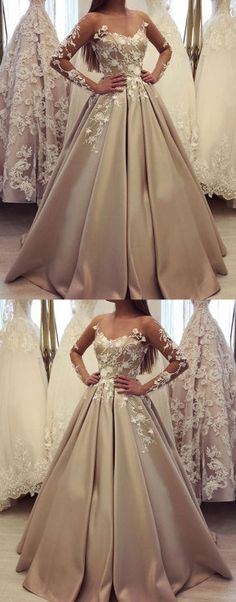generous long sleeve ball gown champagne prom dresses, luxury lace wedding dress for bridal, Shop plus-sized prom dresses for curvy figures and plus-size party dresses. Ball gowns for prom in plus sizes and short plus-sized prom dresses for Long Sleeve Evening Dresses, Prom Dresses Long With Sleeves, Evening Gowns, Long Dresses, Long Sleeve Quinceanera Dresses, Champagne Quinceanera Dresses, Evening Party, Special Dresses, Ball Gowns Prom
