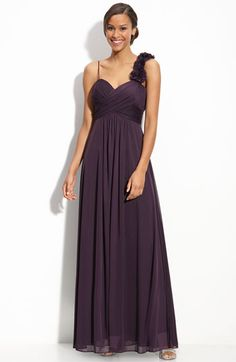 Betsy & Adam Flower Trim Jersey Gown $168