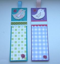 Little Birds - Set of Two Bookmarks by Crafty Mushroom