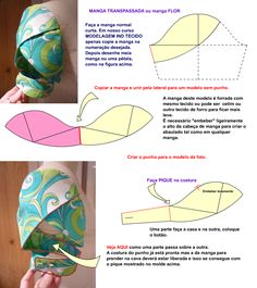 I think I want to make all my sleeves petal / tulip sleeves =) - Salvabrani Sewing Hacks, Sewing Tutorials, Sewing Crafts, Sewing Projects, Techniques Couture, Sewing Techniques, Dress Sewing Patterns, Clothing Patterns, Sewing Clothes