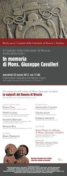 """Italia Medievale: """"Le epigrafi del Duomo di Brescia"""", presentazione a Brescia"""