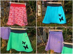 Knit skirt pattern making Sewing Patterns Girls, Skirt Patterns Sewing, Sewing For Kids, Knitting Patterns, Clothes Crafts, Sewing Clothes, Jersey Knit Skirt, Diy Kleidung, Summer Knitting