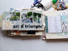 Eine weitere Seite meines Paris Albums.