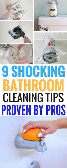 Bathroom Cleaning Tips | A list of the BEST hacks to deep clean your bathroom.