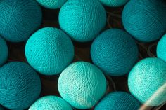 #Cotton balls #lighting are really adorable to your house. Best home decor at night. Feel #warm heart of #cyan and #white cotton balls.  A pack contains 20 cotton balls with tin... #trending #etsy #cotton #ball #cute #christmas
