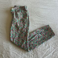 J. Crew Floral Print Jeans Super cute jeans from J. Crew. Good condition. Fit TTS. J. Crew Jeans Ankle & Cropped