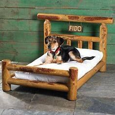 Shop for beautiful rustic accent furniture, including willow twig furniture, moose & bear tables, and more, at Black Forest Decor today! Rottweiler, Le Chihuahua, Pallet Dog Beds, Black Forest Decor, Dog Hotel, Diy Dog Bed, Dog Rooms, Pet Furniture, Pet Beds