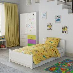 Dětské povlečení do postýlky žluté bílé ovce ověčka motýl motýlek kreslené postavičky Hello Kitty, Toddler Bed, Furniture, Design, Home Decor, Products, Child Bed, Decoration Home, Room Decor