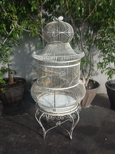 Antique Victorian 5 foot metal bird cage