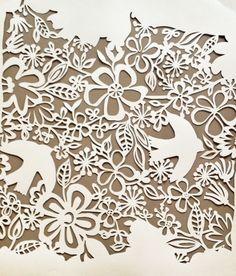Papercutting-artistically afflicted blog, design by julie hamilton