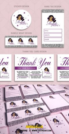 Branding Print Packages // Customized just for your brand! // This one includes: Custom Stickers, Bundle Wraps Business Branding, Business Card Design, Branding Kit, Beauty Business Cards, Business Thank You Cards, Salon Business Cards, Eyelash Logo, Eyelash Curler, Business Baby