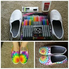 Made In Michigan: DIY Tie Dye Shoes (with Sharpies!)