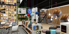 9 3/4 Bookstore+Café on Behance  www.plasmanodo.com
